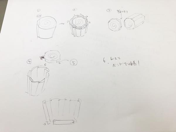 軽量丸太椅子の設計図