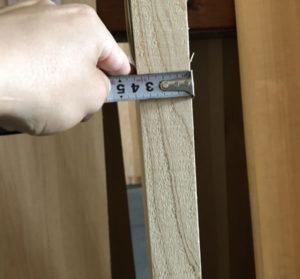 一枚板の厚み測定